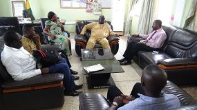 CEO of PEF interacts with the District Chief Executive of Ejura.jpg