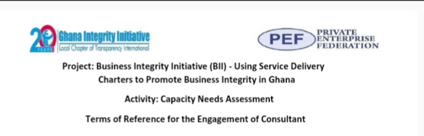 Capacity needs assessment, Terms of Reference for the Engagement of consultant