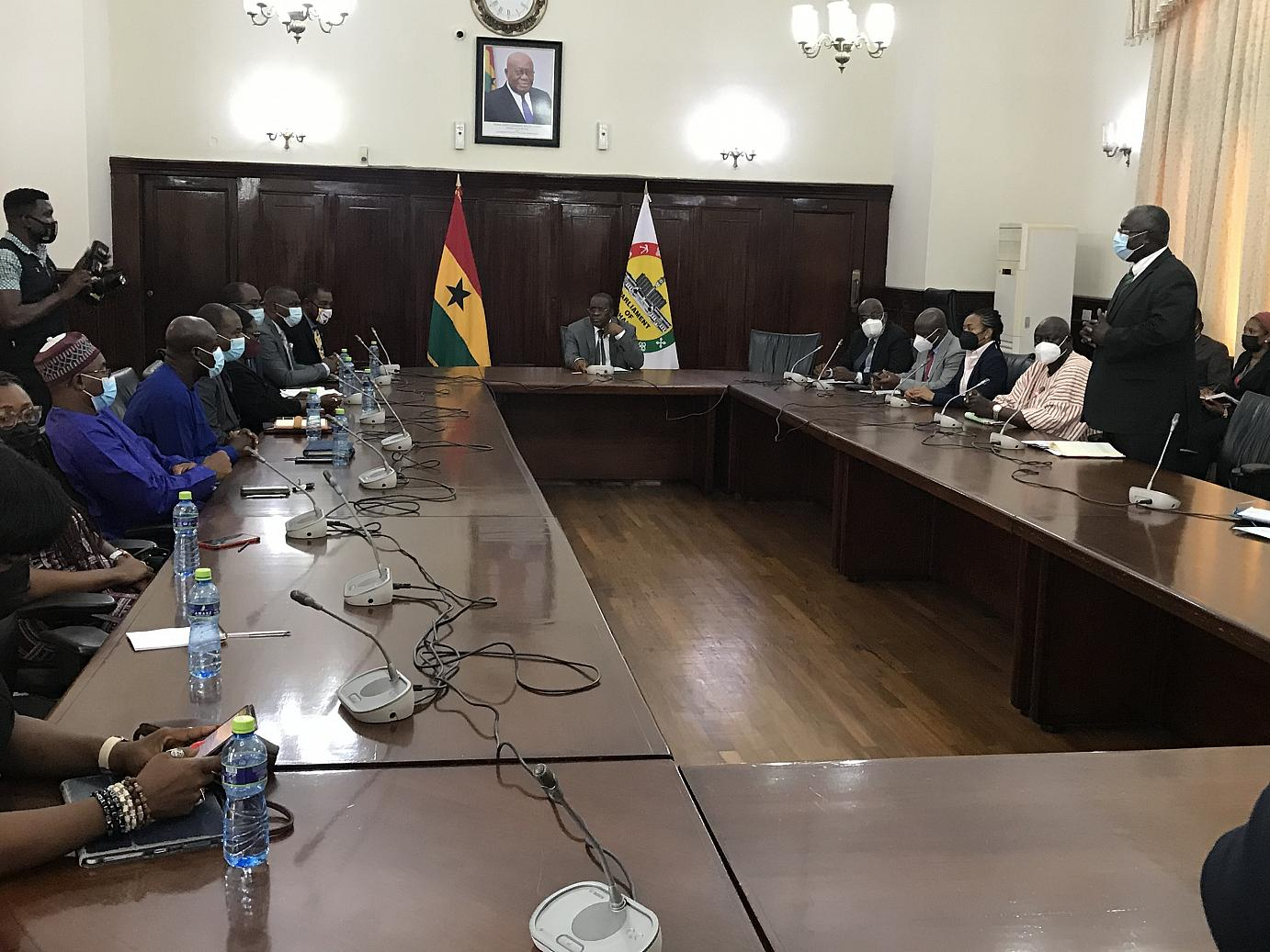PEF pays courtesy call to Speaker of Parliament