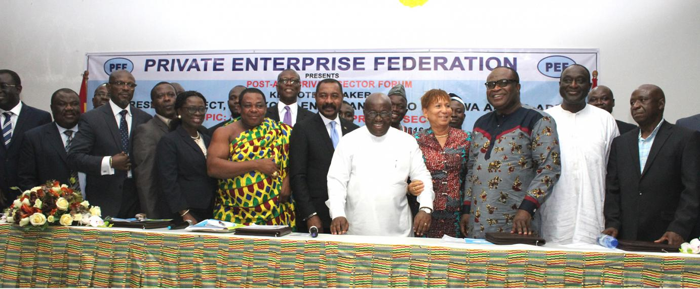 President-Elect, CEO of PEF and a section of dignitaries present on the occasion